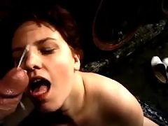 Man fucking chubby woman and cums