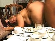 Horny fatties in gangbang