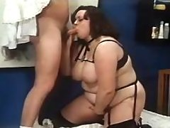 Magnificent BBW in lingerie screwed