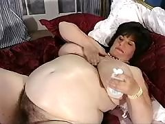 Big pregnant mom shows giant boobs
