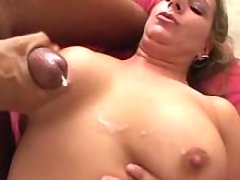 Chubby lady crazy fucks and gets cumload on tits