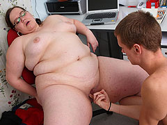 The BBW gets very naughty and breaks the rules by fucking one of her students in class