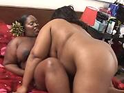 Black fat lezzies caress each other