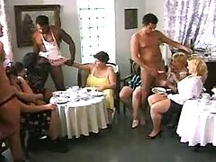 Hot fatties in sex party